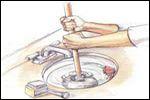 Jak odetkać zablokowany zlewozmywak lub wannę.