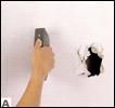Naprawa uszkodzonej płyty kartonowo gipsowej.
